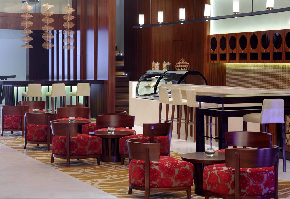 The Greatroom, the lobby lounge concept reflecting Marriott's new brand voice.