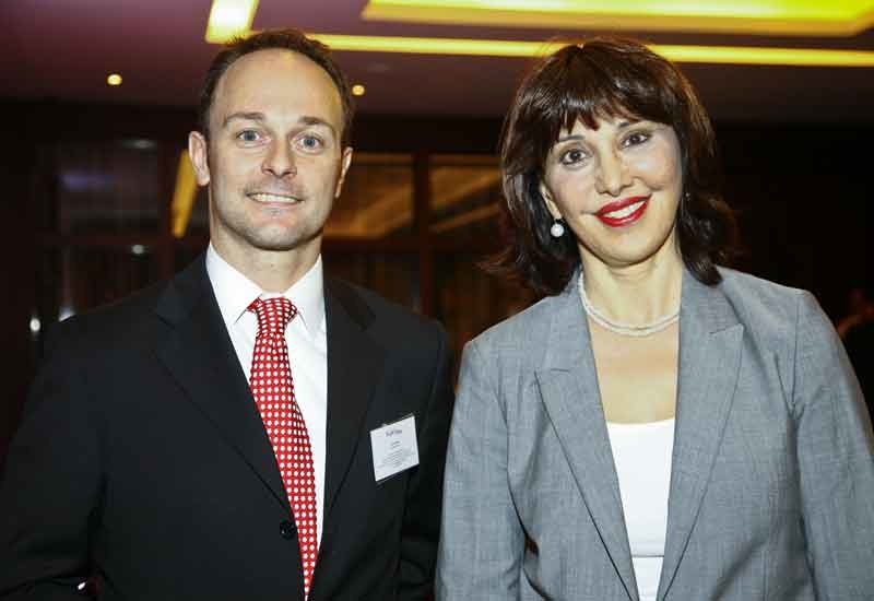 Sopexa's Eric Santier with the French consul general to Dubai, Nada Yafi.