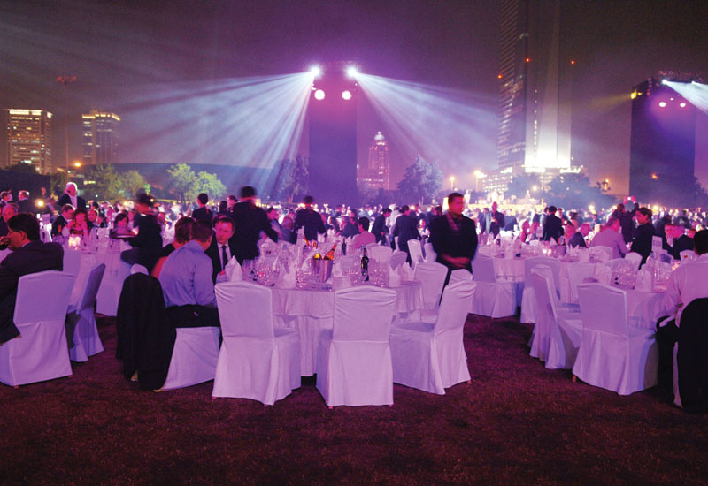 The 2009 Airshow Gala Dinner at Emirates Golf Club.