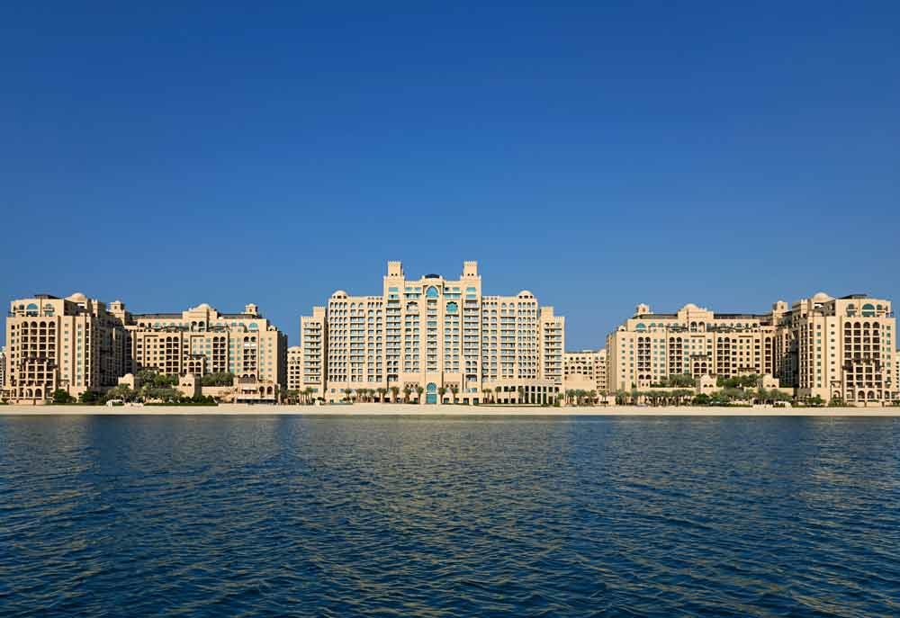 The new 381 room, AED 1.2 billion (US $330 million), five-star beach front Fairmont The Palm hotel.