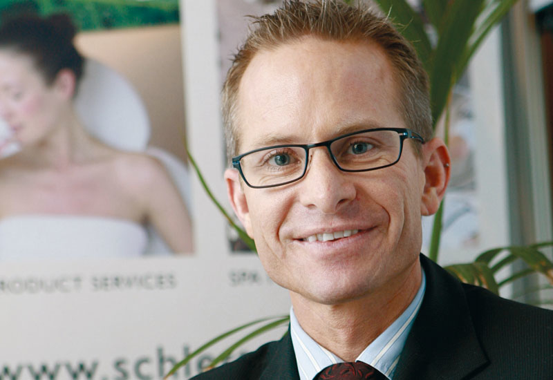 Schletterer regional director Middle East Gerald Huber says spa trends are health and ceremonial treatments.