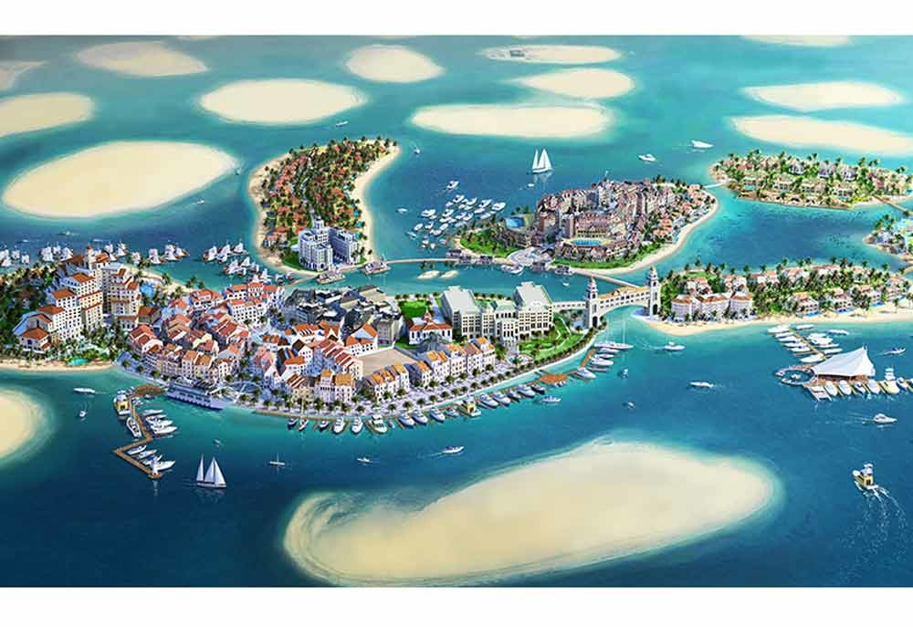 The Kleindienst Group's The Heart of Europe project on the The World islands, Dubai.