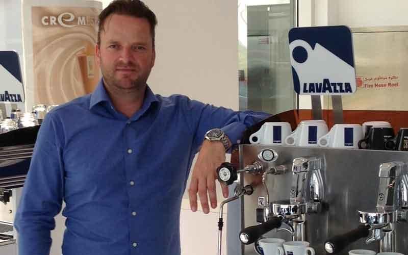 Lavazza UAE manager Koen Seijnder.
