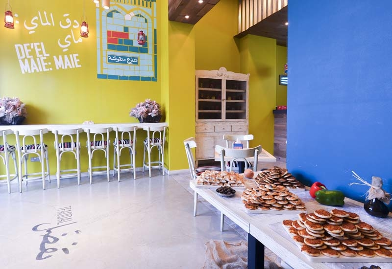 The new Man'oushe Street store has been designed with quirky elements.