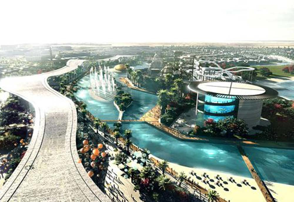 An artist's impression of part of the MBR City project.