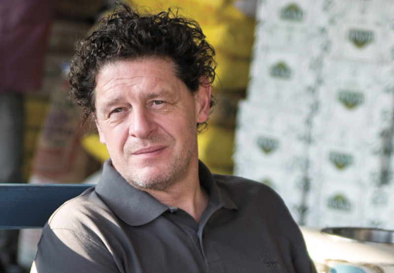 Marco Pierre White said the fishermen had impressive methods of displaying the catch.