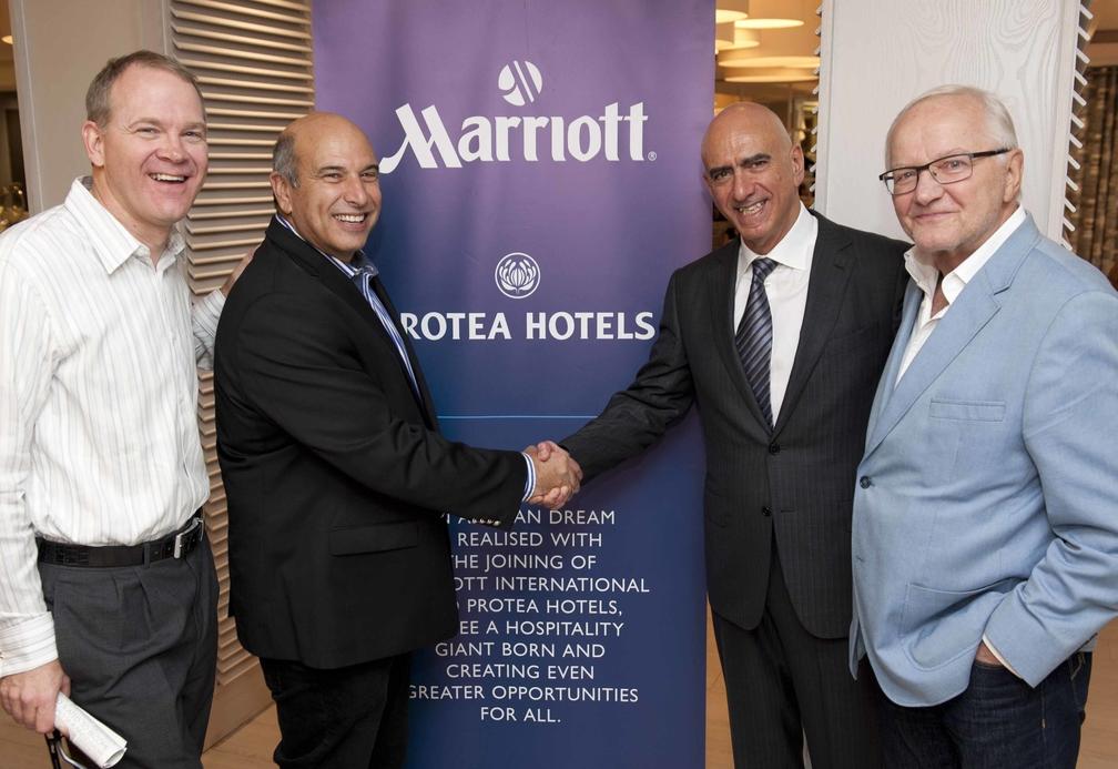 Left to right: Mark Satterfield, Arthur Gillis, Alex Kyriakidis and Otto Stehlik, founder of Protea Hospitality Group.