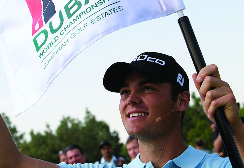 Martin Kaymer at the unveiling of the Earth Course
