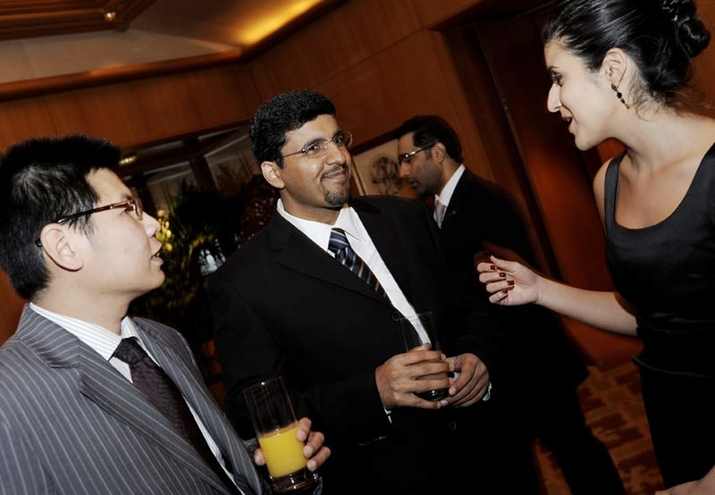 Director tourism standards for ADTA, Nasser Al Reyami with guests in Italy.