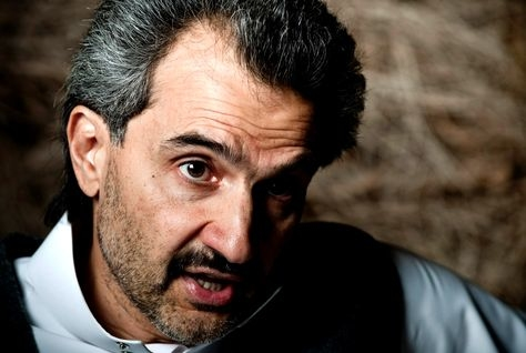 Prince Alwaleed Bin Talal, chairman of Kingdom Holding.