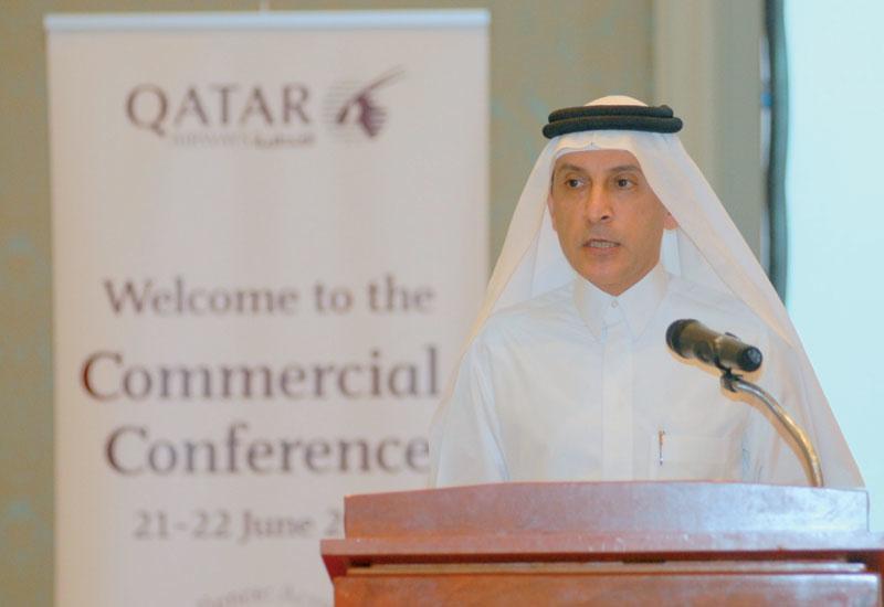 Qatar Airways CEO Akbar Al Baker announces the routes.