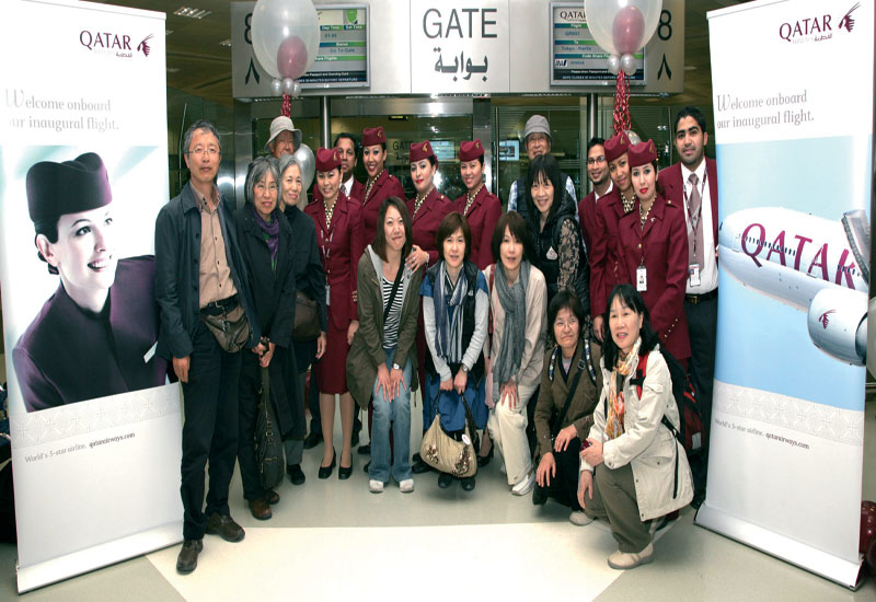 Qatar Airways touched down in Tokyo on April 26. The airline operates a daily service between Tokyo and Doha.