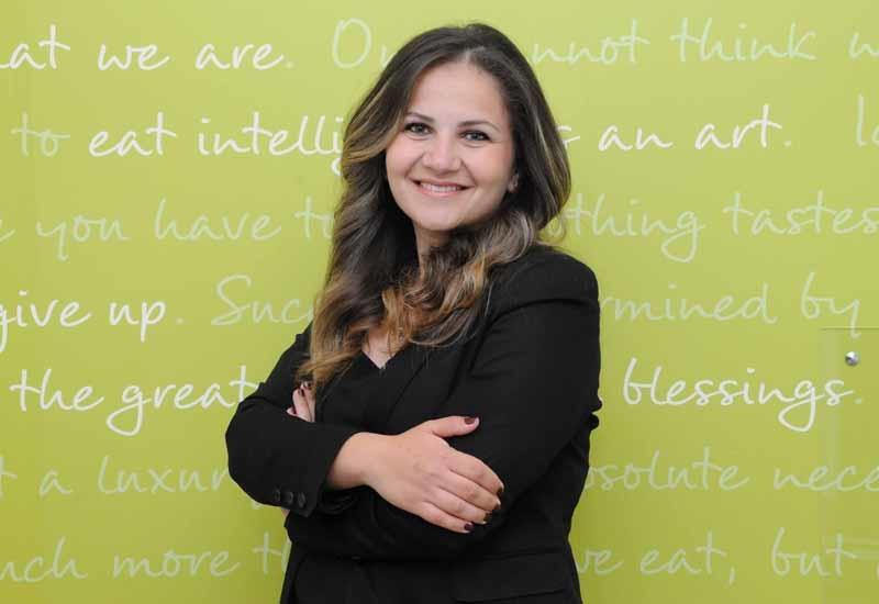 Right Bite Abu Dhabi's main dietitian Hala Abu Taha.