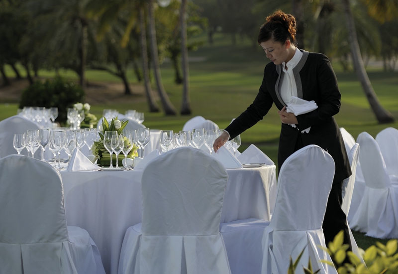 Royal Majilis lawn, Emirates Golf Club.