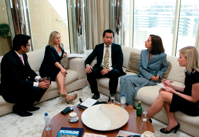[L-R] Rohit Rattan, Emma Fraser, Leon Salinel, Lin Aydin and Hotelier ME editor Louise Oakley