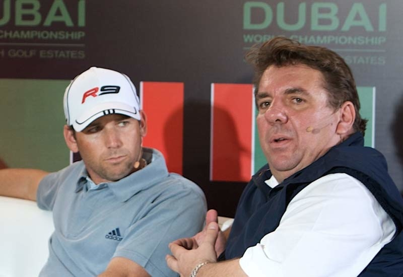 Leisurecorp CEO - Golf David Spencer, pictured with Sergio Garcia, will be one of the speakers at the forum