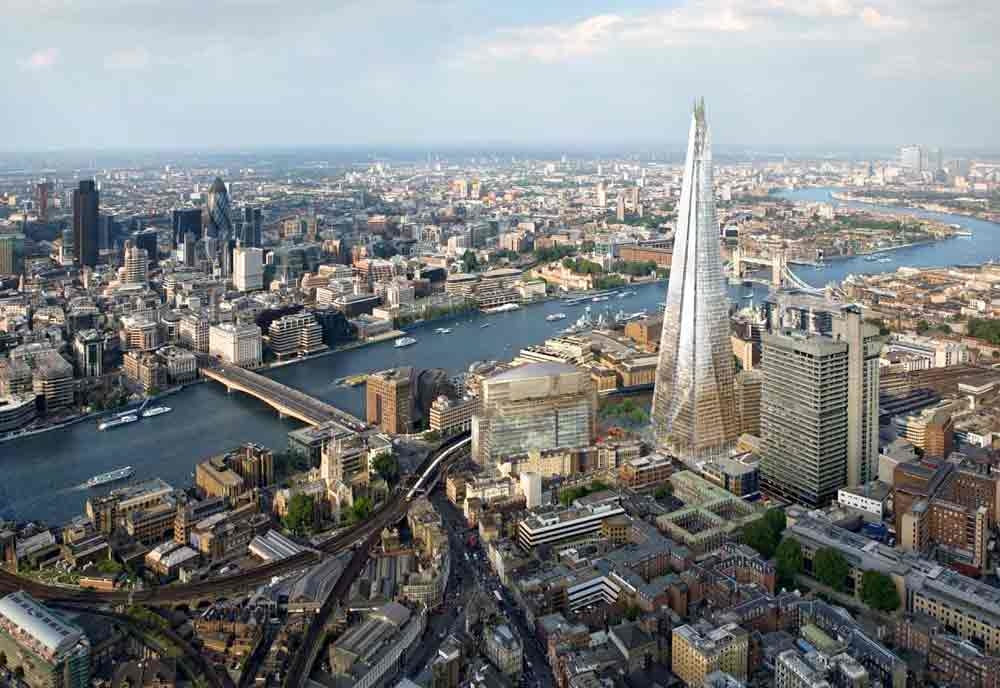 Shangri-La Hotel, At The Shard, London, is located inside the 1,016ft (310m) The Shard tower, Western Europe's tallest building.