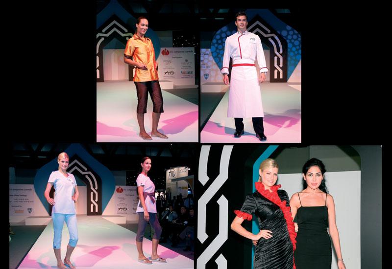 [L-R] Reckless Design, TM Fashion, Eagle K-Wear and Souzan Nafez with her winning design.