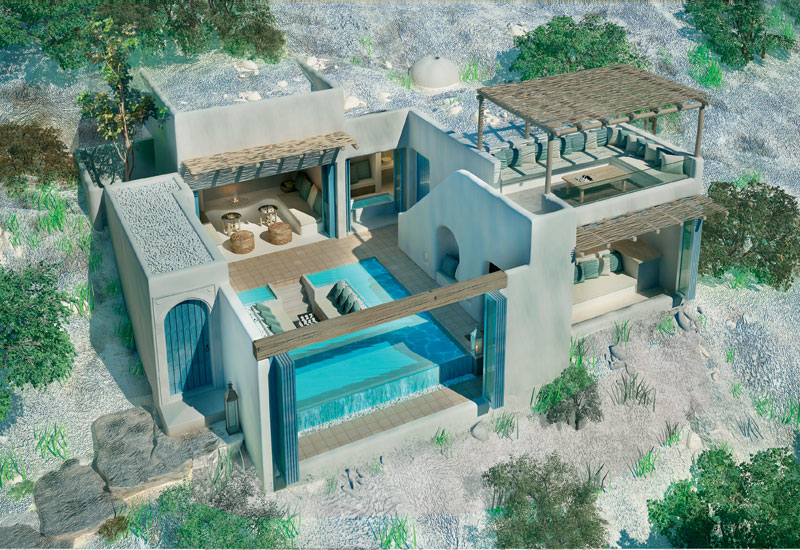 Pool villa design for Six Senses Essaouira in Morocco.