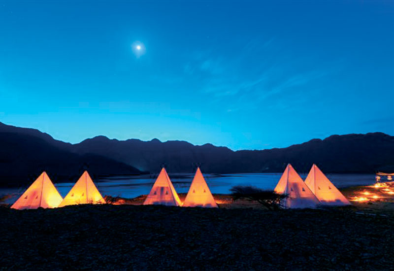 The Tented Camp concept planned for Zighy Bay.
