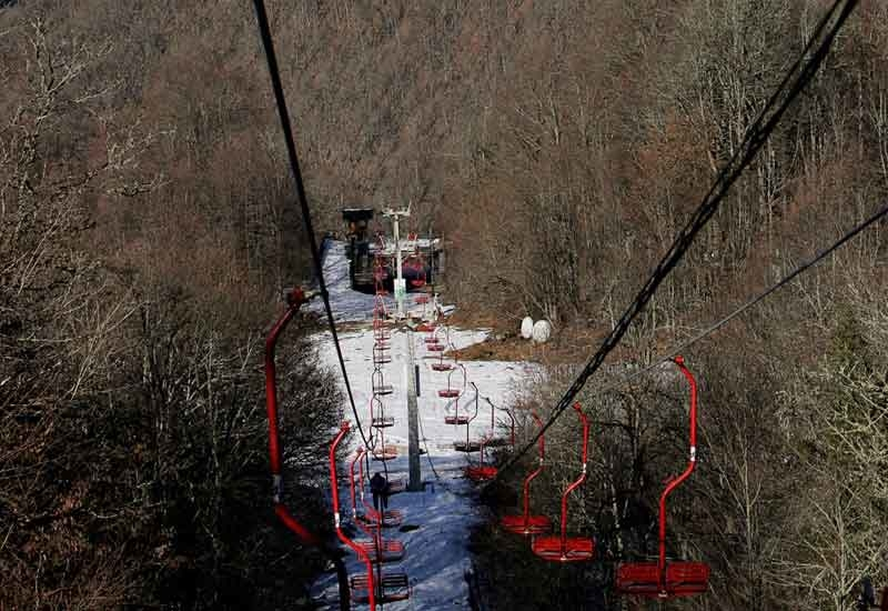 Ski lift in the Russian resort of Sochi, home to the 2014 Winter Olympics. (DENIS SINYAKOV/AFP/Getty Images)