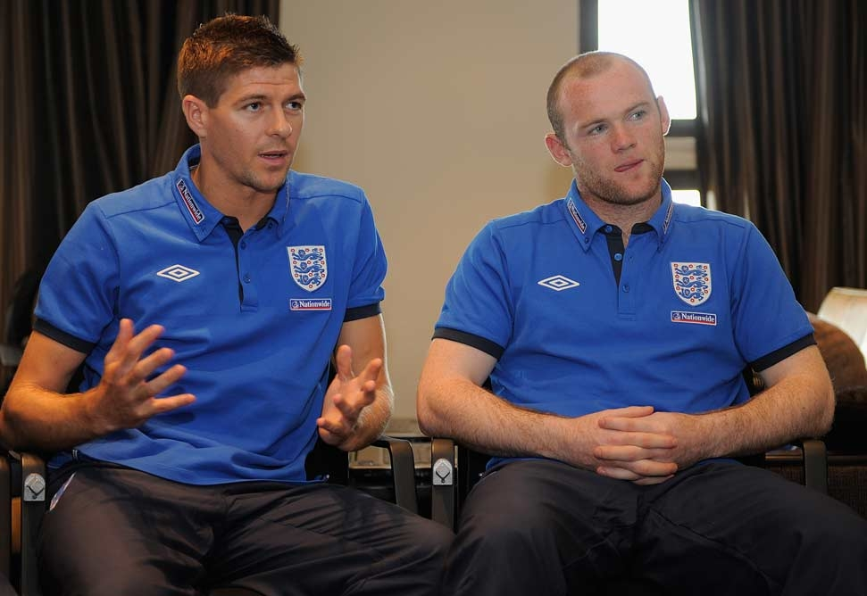 Stephen Gerrard and Wayne Rooney describe a night out at the training camp [Getty Images].