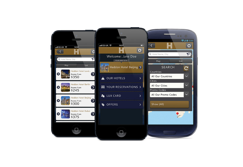 The iRiS BrandApp enables guests to view a hotel, search for and book a room or log into a loyalty scheme and redeem points.