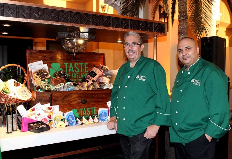 Uwe Micheel, left, with Salvadore Silvestrino, executive chef at Moevenpick Dubai