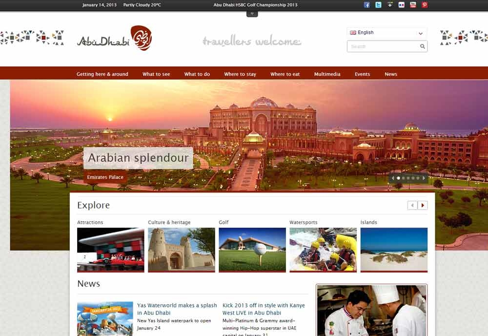 Abu Dhabi TCA's new website attracted more that one million visitors in 2012.