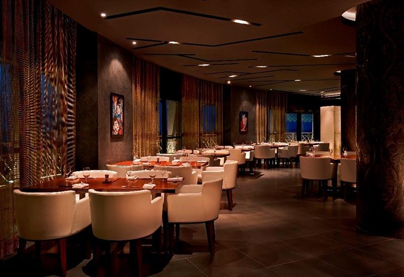 The interior of Umi in the Waldorf Astoria Ras Al Khaimah.