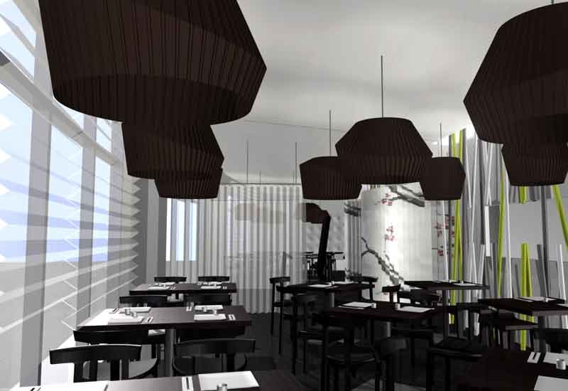 The interiors of the new Wasabi outlet on the corniche, Kuwait