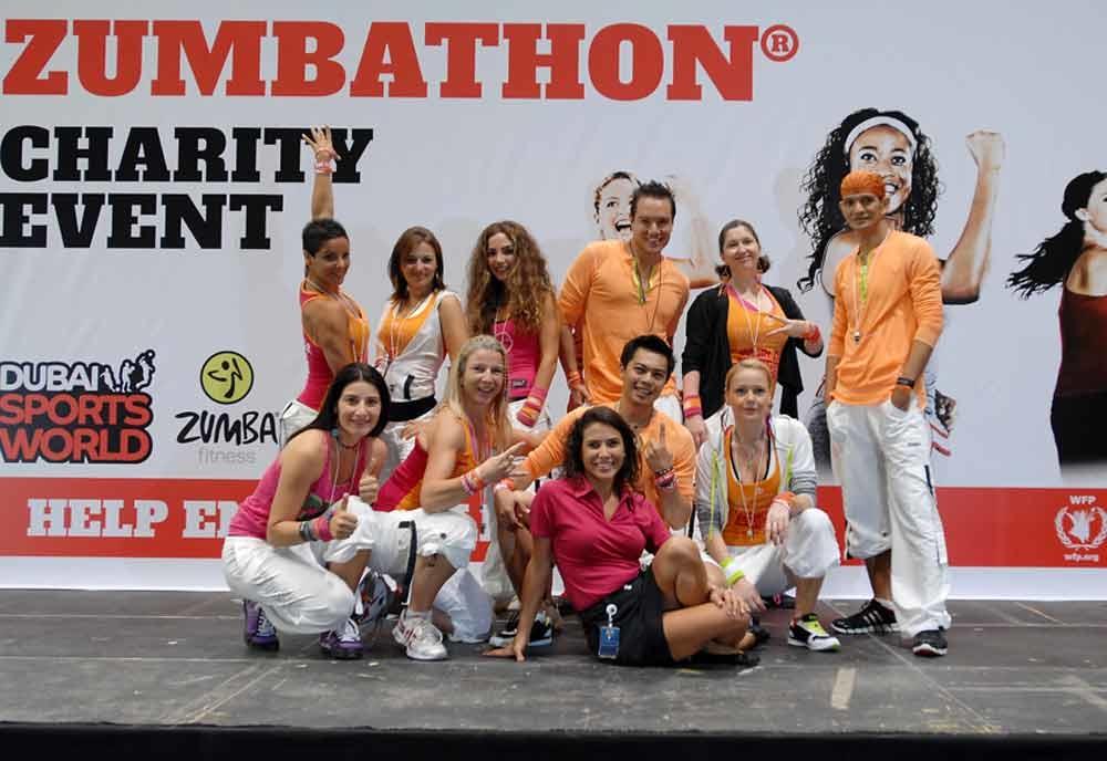 The Zumbathon team.