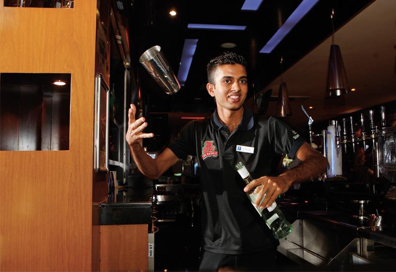 Vikram Odedara, bartender at The Huddle in Citymax Hotel Bur Dubai.