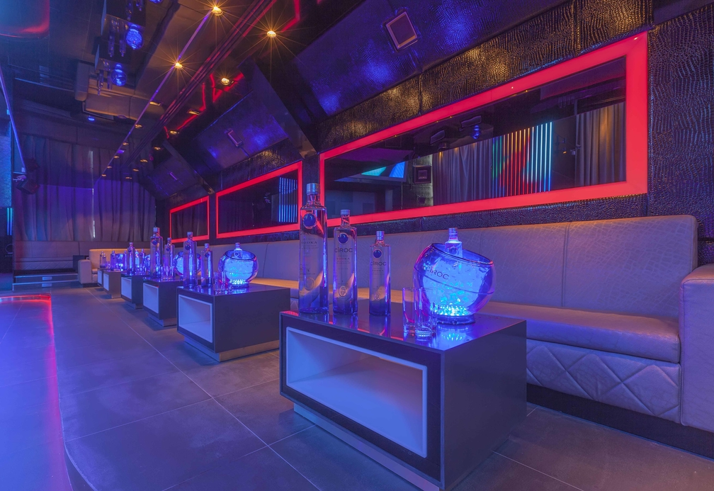 The main room of new Dubai night spot, Boutiq Ultra Lounge.