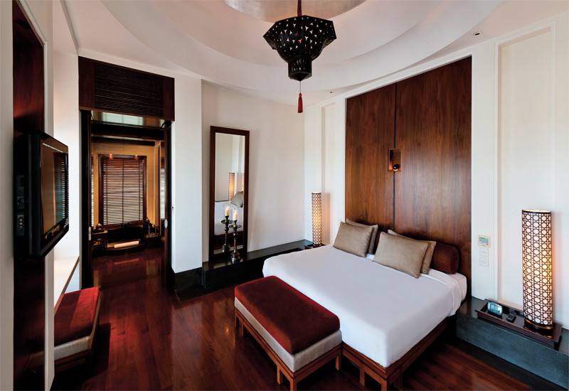The Chedi Muscat closes certain areas of the hotel during the quieter months to save energy.