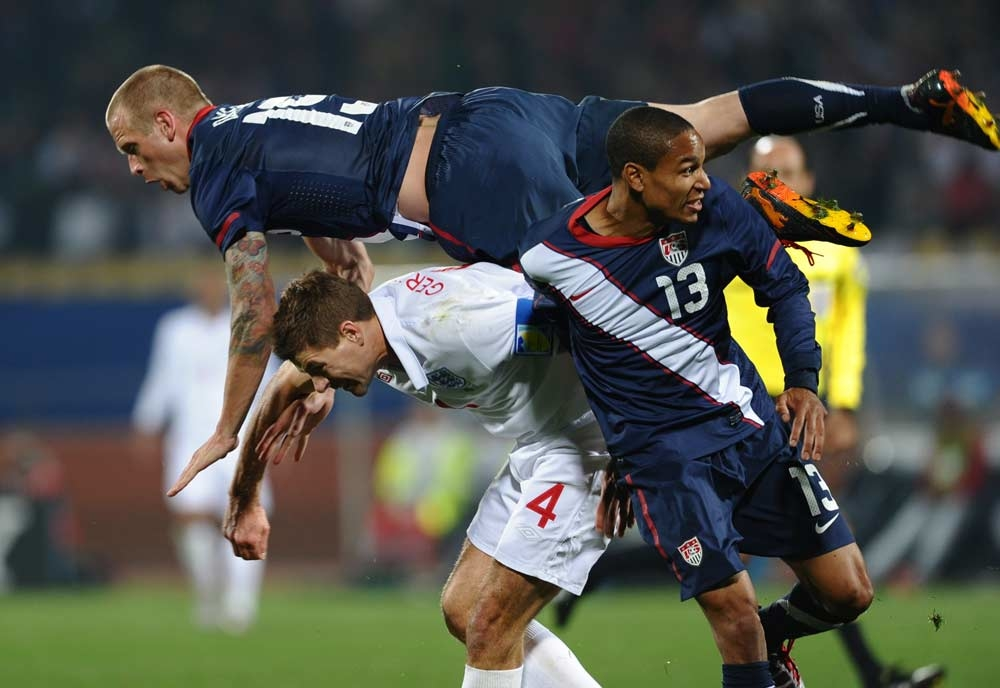 Shirts swapped at the end of the England USA group match were taken in the theft [Getty Images].