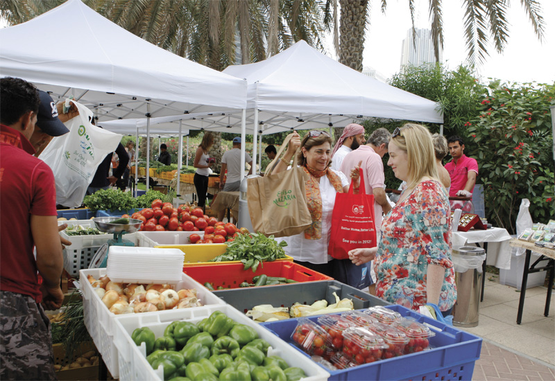 The Farmers' Market on The Terrace is just one of many local produce initiatives in the UAE.