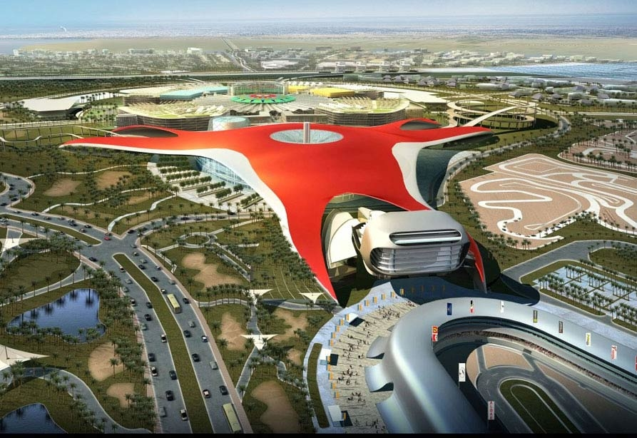 Ferrari World is the biggest indoor theme park in the world.