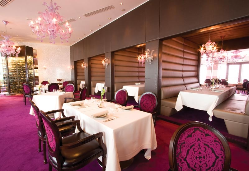 The elegant interiors of Reflets par Pierre Gagnaire, located in InterContinental Dubai Festival City.