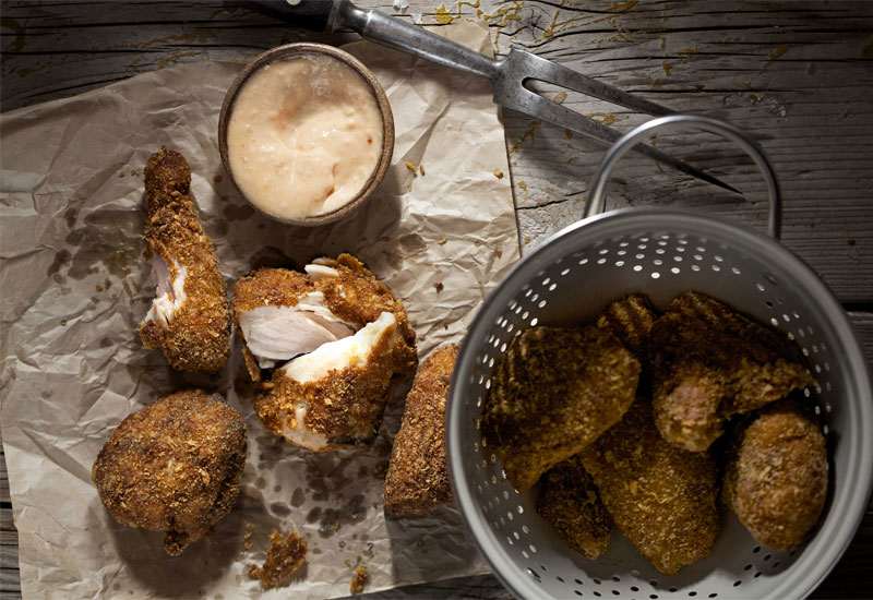 Comfort food: Home-made fried chicken.