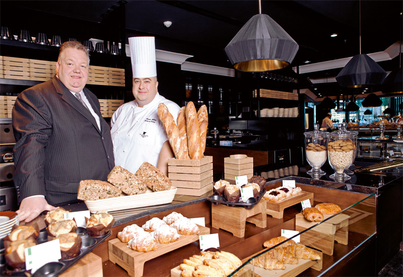 F&B director Anthony Tutle and director of culinary Thomas Rebler