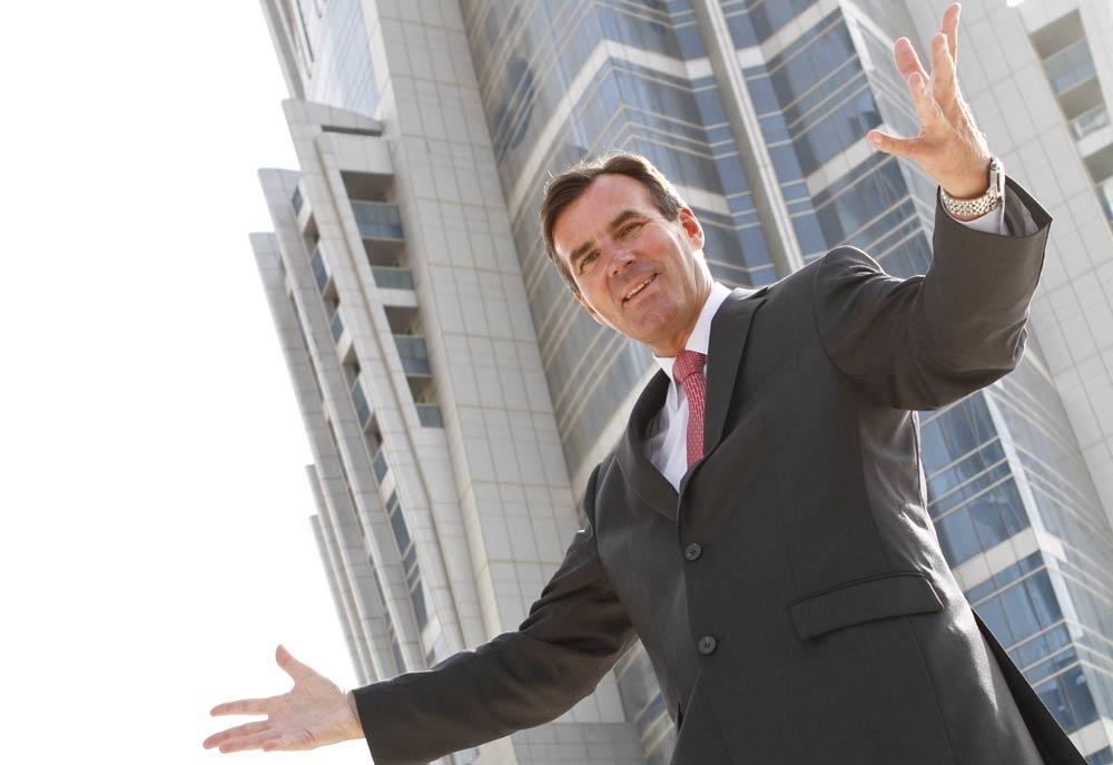 GM Rupprecht Queitsch outside the JW Marriott Marquis Dubai Hotel