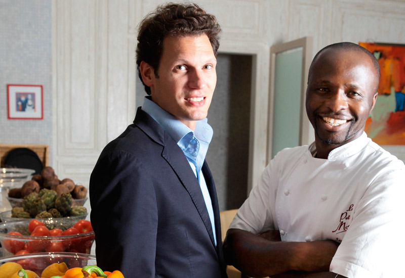 Executive chef Izu Ani and general manager Cedric Toussaint