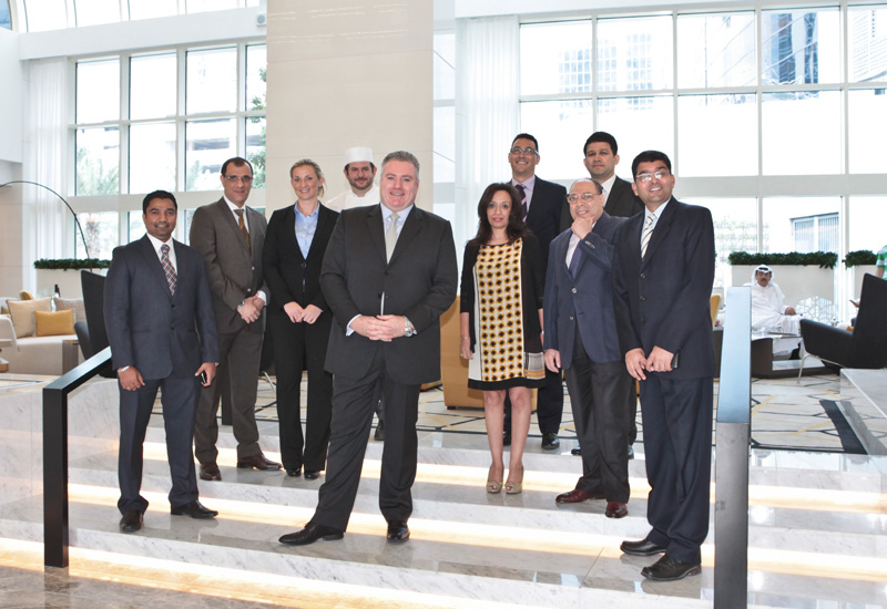 From left to right: Kiran Kumar, director of PR and marketing; Mahmoud Abulwafa, area director of human resources; Christina Bowen, director of food and beverage; Justin Galea, executive chef; Shaun Parsons, general manager; Matt Griffis, director of rooms; Arjun Dsouza, director of revenue; Mai Nassar, area director of sales and marketing; Osman Abdelrasek, director of finance; Raghuraj Sawhney, director of engineering.