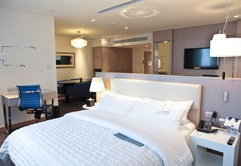 The renovated rooms feature new carpets, beds and furniture as well as updated technology.