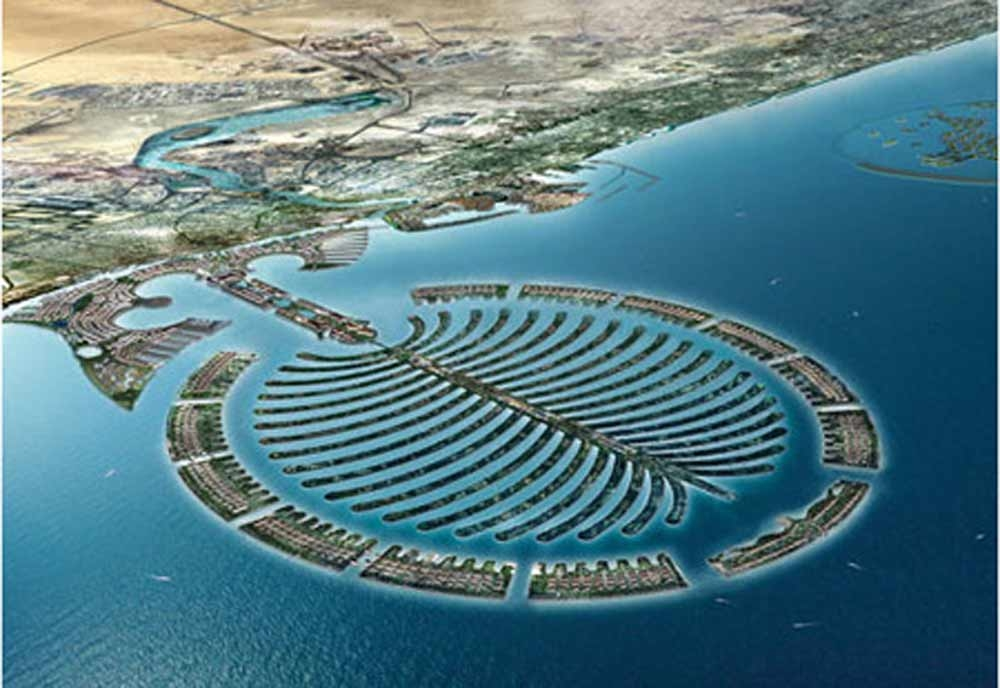 A previous design for the delayed Palm Deira development, on which Nakheel is planning to build five hotels.