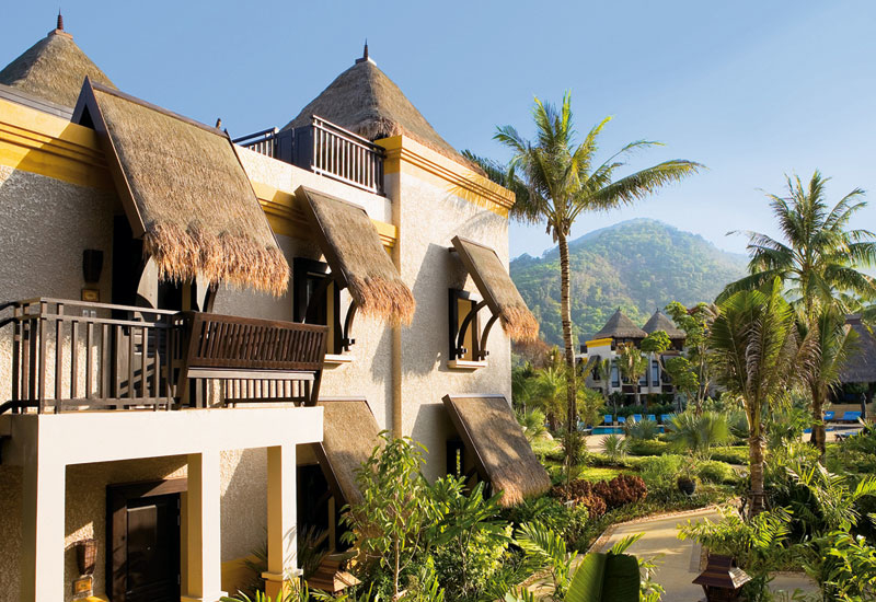 A villa in the tropical garden.