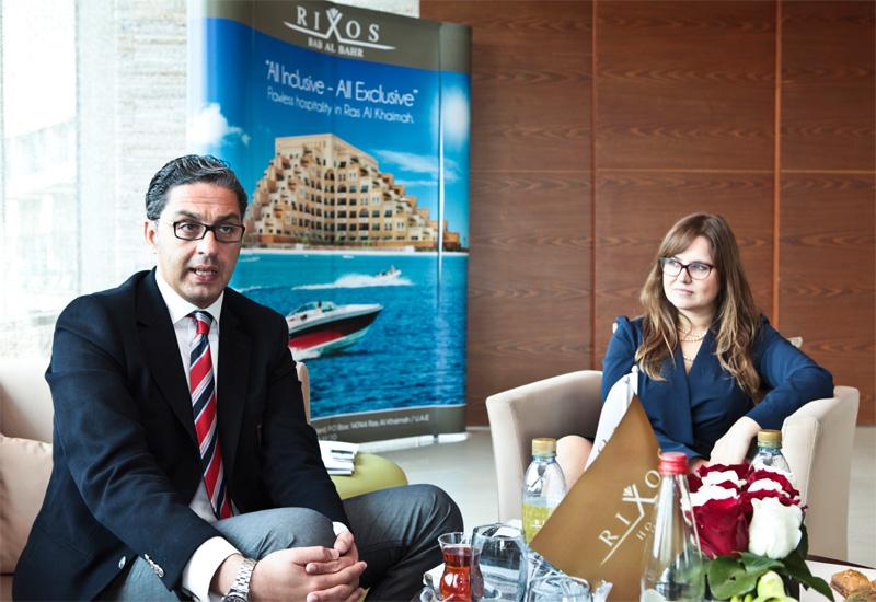 Haytham Omar and Ba?ak  Erel explain the all-inclusive, all-exclusive concept of Rixos Bab Al Bahr.