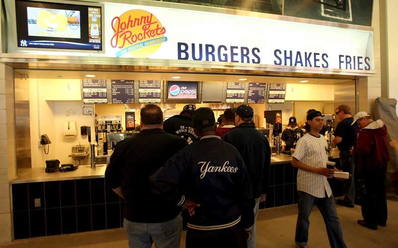 Johnny Rockets is a popular American chain.