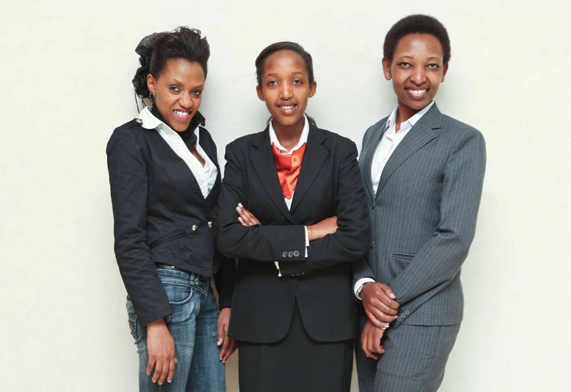 The three trainees and 12 other graduates will soon return to Rwanda for the preopening of the Marriott Kigali Hotel.